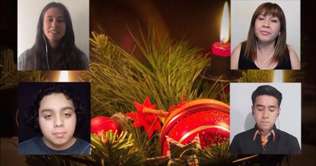 Villancicos a distancia de la familia Nocedal para celebrar Navidad y Aniversario