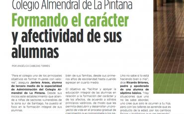 Colegio Almendral de la Pintana formando el carácter y afectividad de sus alumnas