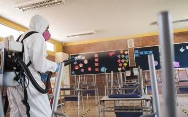 Colegio Almendral de La Pintana sanitiza sus instalaciones con nanopartículas de cobre